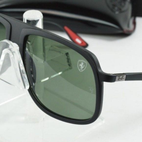 b37cd4574cc4b NEW RayBan Scuderia Ferrari Black Red Sunglasses